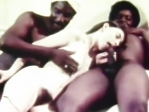 Young White Teen Girl with two Older Black Dudes (Vintage)