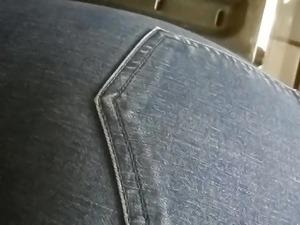 Candid milf ass denim jeans