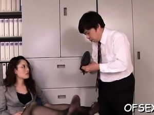This japanese girl saduces a chap and fucks him good