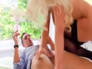 Slutty Blonde Nicolette Shea Sucks And Rides Big Dick In Kitchen