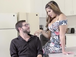 Hot moments with lecherous Mercedes Carrera and Logan Long