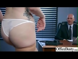 (Lauren Phillips) Big Tits Horny Office Girl Get Nailed Hardcore vid-13