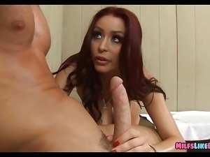 Redhead MILF gets Dick in the locker room