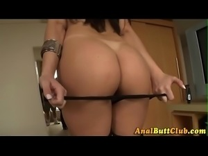 Slut shows her gaping ass